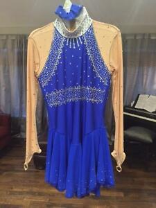 Figure Skating Competition Dress (Royal Blue)
