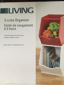 New! Box of 2 cube wooden organizers Kitchener / Waterloo Kitchener Area image 1