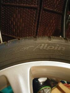 225/40R18 Michelin WINTER low pro tires, ASA Rims 5×100 B.P. Peterborough Peterborough Area image 4