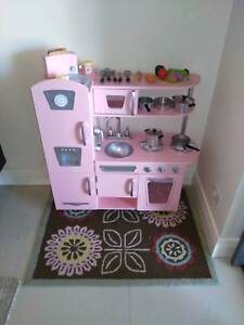 KidKraft Vintage Kitchen (Pink) - Like New - Lots of Extras New Farm Brisbane North East Preview