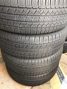 Set of 4 225/65/17 Michelin 70% tread
