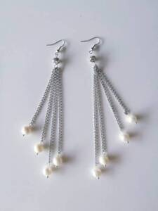 Brand new natural pearl & silver ear drop Carlton Melbourne City Preview