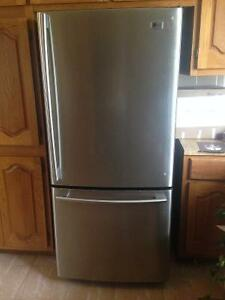 Stainless steel LG Fridge. Very good condition $600