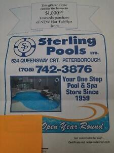 Gift certificate to Sterling Pool and Spa