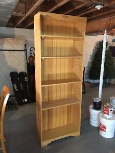 Solid maple bookcase book shelf