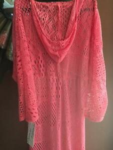 Reduced- Sexy coral knitted Florida wear beach dress Windsor Region Ontario image 4