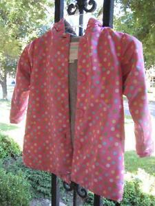 Polka dot lined light coat 4t