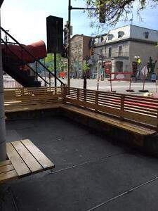 Plateau Commercial Space with Terrace for rent on St-Denis
