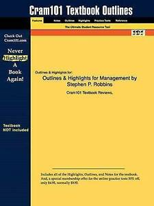 NEW Outlines & Highlights for Management by Stephen P. Robbins