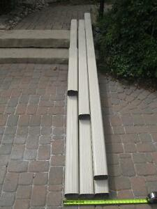 3 in. x 4 in. x 10 ft ALUMINUM DOWNSPOUTS