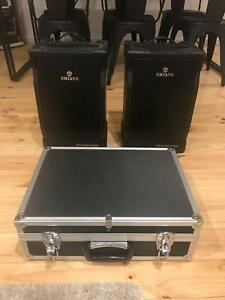 CHIAYO Portable PA with 2 speakers and 2 mics Oakden Port Adelaide Area Preview