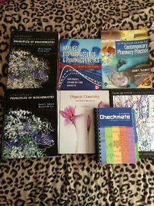 Various pharmacy and other u of s textbooks