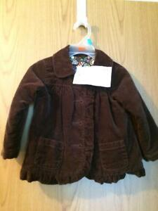 Old navy brown corduroy jacket size 18-24 months