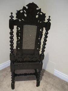 Antique Carved Black Forest Hall Chair for Home deco Kitchener / Waterloo Kitchener Area image 3