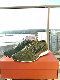 Nike flyknit racer military green limited