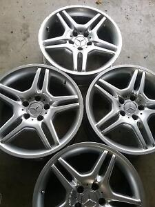 set of 4 used mercedes benz AMG 18 inch rims