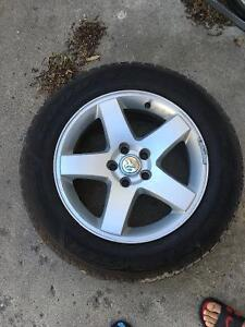 Dodge charger oem rims with winter tyres