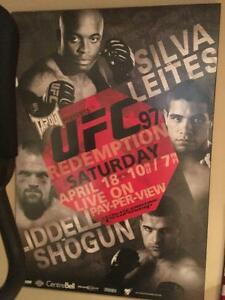 UFC 97 Autographed Fight Poster-Mounted