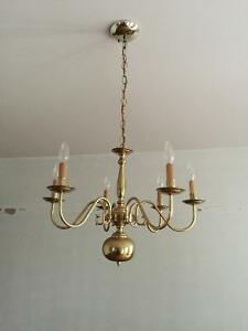 Gold color chandeliers