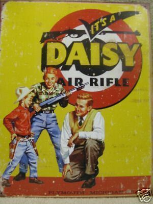 Daisy Air Rifle B.B. Gun Vintage look Advertising Tin Metal Sign NEW for sale  Shipping to Canada