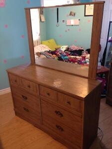 Two dressers, one with mirror