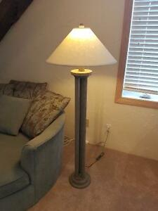 Set of Matching Floor Lamp and Table Lamp