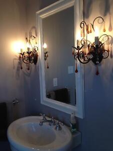 PAIR OF STUNNING CHANDELIER WALL SCONCES