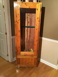 CUSTOM MADE SOLID WOOD 2 DOOR GUN CABINET
