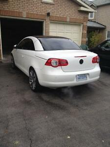 2009 vw eos 2.0T white with tan leather