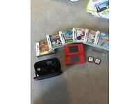 Nintendo DS Lite Red with 8 games Boxed Mint