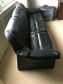 Ekornes Stressless Black Leather Sofa