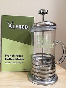 Alfred French Press Coffee Brewer - Brand New
