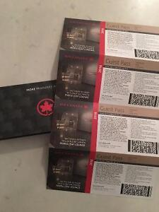 AIR CANADA MAPLE LEAF LOUNGE PASSES x4 exp FEB 28, 2017