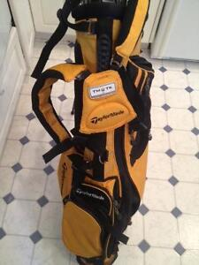Talor made bag with Kings snake golf clubs and exceler woods
