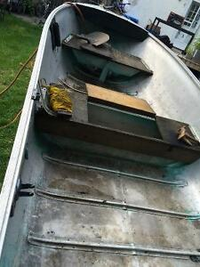 14' aluminum boat, motors and trailer Cambridge Kitchener Area image 4