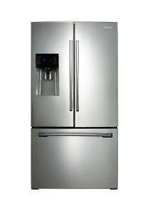 RF263BEAESR/AA 26 Cu. Ft. Stainless Steel Fridge with Ice and water dispenser (SAM11)