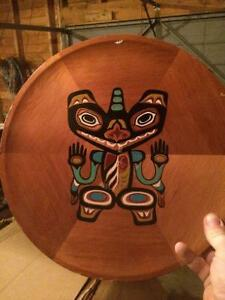 Wooden hand crafted plates