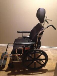 Reclining Wheelchair with head and foot rests Peterborough Peterborough Area image 1