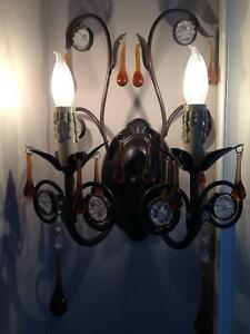 PAIR OF STUNNING CHANDELIER WALL SCONCES Stratford Kitchener Area image 4