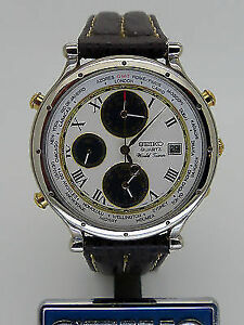 Seiko World time Chronograph with Date