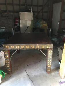 Eclectic old table