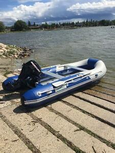 Aquamarin 12.5 ft Zodiac with 15hp Mercury outboard