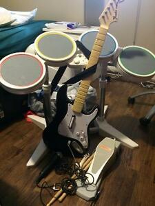 Console Wii avec Rock Band