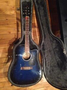Tradition Electric Acoustic Guitar with hard shell case