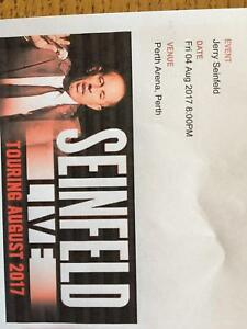 2 X JERRY SEINFELD TICKETS for sale - FRI 4 AUGUST Doubleview Stirling Area Preview
