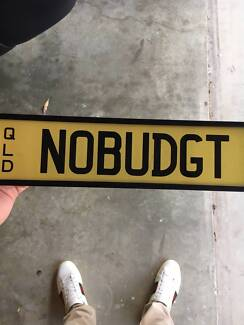 Personalised QLD Plates NOBUDGT
