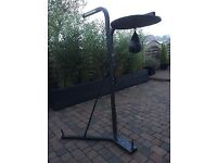 GOLDS GYM GG E-1000 MULTI PURPOSE BOXING STAND WITH SPEEDBALL PLATFORM