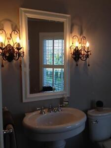 LARGE MIRROR WITH WHITE PAINTED FRAME Stratford Kitchener Area image 2