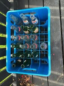 Pop bottles and crate
