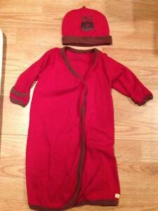 Organic owl baby outfit w/ matching hat, EUC, unisex 3-6 months London Ontario image 1